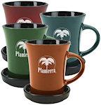 10oz 2 Piece Coaster Mugs